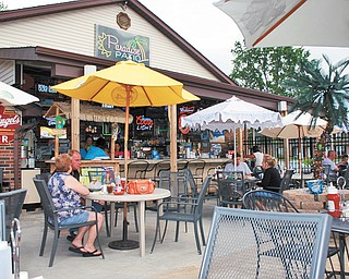 Trax's tropical themed patio is a fresh change of scenery.