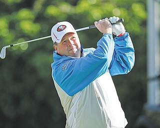 Youngstown's Dennis Miller watches his shot during Round 2 of the U.S. Open on Friday at The Olympic Club in San Francisco. Miller, who is golf director at Mill Creek, missed the cut after finishing 12 over for the day and 22 over for the tournament.