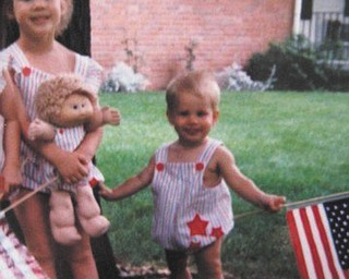 Cathy and Steve Ferenchak of Canfield sent in this photo of their children, Angie and Kenny Ferenchak, who were wearing their red, white and blue matching outfits on the Fourth of July. Cathy said the kids love the fireworks and parades.
