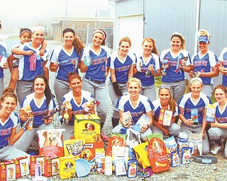 The 2012 Western Reserve High School softball team recently participated in its third annual service league project. With the help of family and friends, the girls collected more than 90 items to donate to the Animal Charity of Mahoning County on Market Street in Boardman. Coach Stephanie Wallace supervised the project. Other 2012 coaches are: Laura Amero, Stephanie Wallace, Jen Paris and Gene Bogden.