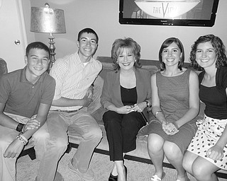 """A day at """"The View"""" with co-host Joy Behar: Lake, Drew, Joy, Caroline and Bailey Bennett of Canfi eld."""