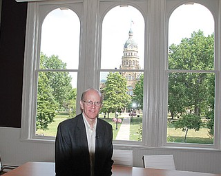 The Raymond John Wean Foundation has completed a 10-month, $2.5 million restoration of new offices at 147 W. Market St. in downtown Warren. Gordon B. Wean, chairman of the board and a third-generation descendant of Raymond John Wean, is in one of the meeting rooms overlooking historic Courthouse Square.