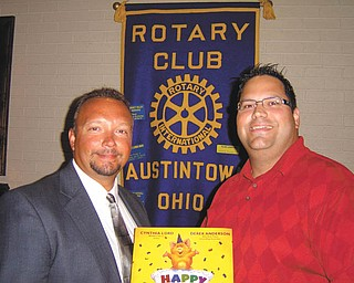 Dr. Michael Cafaro, right, spoke at a recent Austintown Rotary Club meeting. He discussed chiropractic medicine and how it relates to human health and disease prevention. Chiropractic medicine has become the second largest primary health field in the world. Dr. Cafaro is pictured with Mark Cole, Rotary president-elect.
