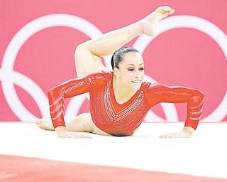 U.S. gymnast Jordyn Wieber performs on the floor during the Artistic Gymnastics women's team final Tuesday.