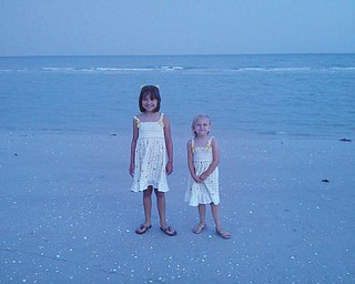 Marissa and Camryn are all dressed up on Sanibel Island. Photo sent in by Rich T.