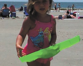 Audrina Schneider, 2, of Poland, plays on the beach at Hilton Head. Photo sent in by Suzanne Verzilli.