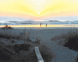 Pam Hall of Hubbard sent in this photo of sunrise at the beach in St. Augustine, Fla. It was taken in March.