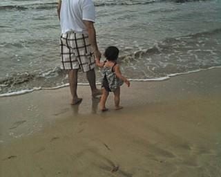 Marianne Lordi of Youngstown sent in this photo of her nephew John Lawrence and his daughter, Rachel Sophia, as they walked on the beach in Puerto Rico last year. John and his wife, Karen, live in Chicago.