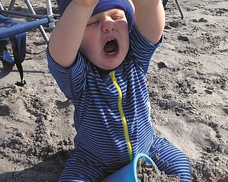 Brady, grandson of Ron and Cathy Hinderliter of Canfield, spends time at Myrtle Beach. Photo submitted by Cathy Hinderliter.