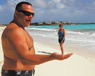 Here's a photo of Ken and Colleen Joerndt of Austintown during a vacation at Sandals Great Exuma, Bahamas, in March. Photo sent in by Colleen Joerndt.