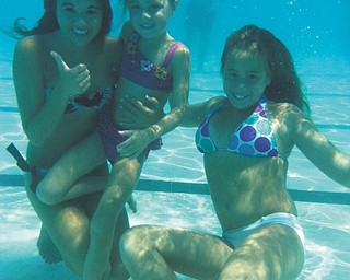 Breanna, Natalie and Jessica Jones put in some pool time in Lumberton, N.C. They're the granddaughters of Gary and Ann Duracky of Poland.