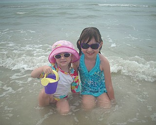 Sisters Camryn and Marissa at Fort Myers Beach. Photo sent in by Kelly Alexander.