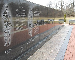 The names of 304 Ohio veterans who have died in the War on Terrorism are engraved on the east side of the Ohio Vietnam Veterans' Memorial Wall at Ohio Veterans' Memorial Park in Clinton. The west side of the wall is engraved with the names of 3,095 Ohioans killed in the Vietnam War.