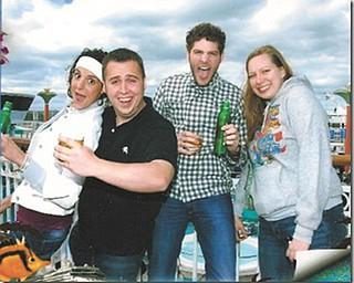 Lauren Verzilli, Graham Parr, Joe Verzilli and Lisa Griffith are having fun on their way to Bermuda.