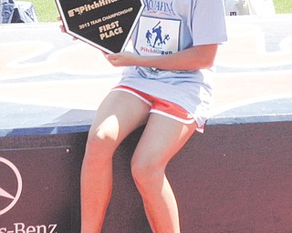 Serena Sammarone, 12, of Canfield, was the local and regional (Cleveland) winner of the Hit, Pitch & Run competition in the 11-12 age group in softball, but was not among the three finalists to go to the national competition.