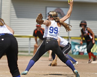 Ally Deemer pitches for Poland.