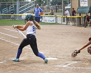 Ally Deemer makes a hit for Poland on August 8, 2012 at the Firestone Stadium in Akron, Ohio.