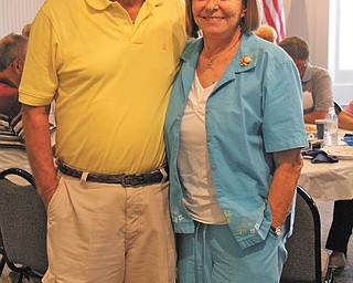 Bradley Smith was accompanied by his wife, Kirsten, when he traveled from Bradenton, Fla., recently to attend a reunion of the Jackson-Milton High School Class of 1957. Smith, who grew up in Lake Milton, was held captive at prisoner-of-war camps in and near Hanoi, North Vietnam, for seven years.