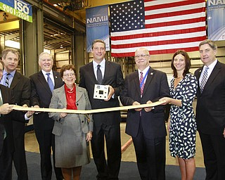 ROBERT K. YOSAY  | THE VINDICATOR..Gene Sperling- Senator Sherrod Brown - Frank  Kendall - Rebecca Blank - Tim Ryan  -   Ralph Resnick -  Janette Garvey and Mike Garvey - (m7 Technology owners - ..a 30 Million dollar grant for a manufacturing hub was announced today at M7 Technologies - .Obama officials, including White House National Economic Council Director Gene Sperling, Acting U.S. Commerce Secretary Rebecca Blank, Under Secretary of Defense Frank Kendall and a host of other manufacturing officials will be at M-7 Technologies.. - -30-..