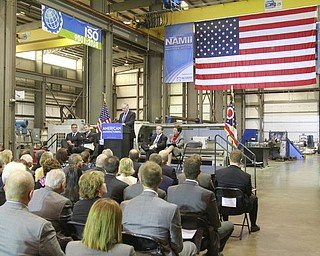 ROBERT K. YOSAY  | THE VINDICATOR..Frank Kendall -  speaks at M7--a 30 Million dollar grant for a manufacturing hub was announced today at M7 Technologies - .Obama officials, including White House National Economic Council Director Gene Sperling, Acting U.S. Commerce Secretary Rebecca Blank, Under Secretary of Defense Frank Kendall and a host of other manufacturing officials will be at M-7 Technologies.. - -30-..