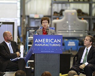 ROBERT K. YOSAY  | THE VINDICATOR..a 30 Million dollar grant for a manufacturing hub was announced today at M7 Technologies - .Obama officials, including White House National Economic Council Director Gene Sperling, Acting U.S. Commerce Secretary Rebecca Blank, Under Secretary of Defense Frank Kendall and a host of other manufacturing officials will be at M-7 Technologies.. - -30-..