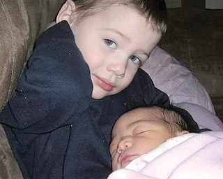 A photo of Bryce and his sister that his mother, Jessica Linebaugh, posted on Facebook in May 2008.