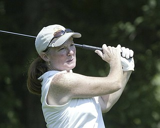 William D Lewis The Vindicator  Mary Kane drives Friday at Mill Creek.