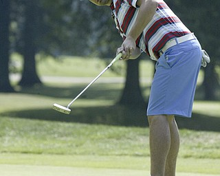 William D Lewis The Vindicator  Bill stanton putts Friday at Mill Creek.