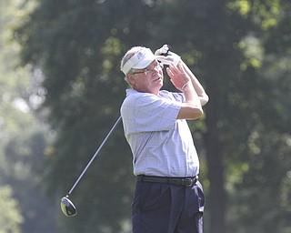 William D Lewis The Vindcator  Dan Kinney tees off at Trumbull Saturday.