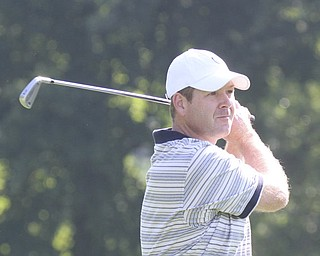 William D Lewis The Vindcator  Christopher Porter tees off at Trumbull Saturday.