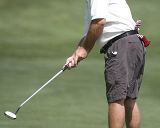 William D. Lewis The Vindicator  Thomas Kinkela putts at LAke Club Sunday 8-26-12