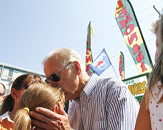 MADELYN P. HASTINGS | THE VINDICATOR..Joe Biden visited the Canfield Fair on August 31, 2012. ... - -30-..