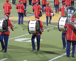 Fitch drum line gets the band in beat!