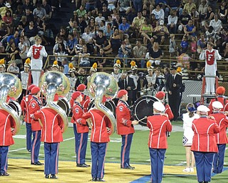 Fitch drum majors lead the half time show