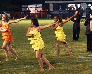 "The Campbell Majorettes ""Party Rocking"" at Friday's game!"