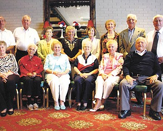 Austintown Fitch High School Class of 1947 celebrated its 65th class reunion at the Saxon Club on Aug. 11. Those attending were, in the front row from the left, Minnie Klein Haner, Mary Lou O'Hara Hildebrand, Jean Probst Duffett, Beverly Larson Mitchell, Helen Kogur Zynski and Shaffer Cormel. In the back row from left are Howard Crum, Ronald Brothers, Edna Slavik Bresnahan, Peggy Brown Kollar, Marilyn Shaw Boggs, Jo Kral Baker, Paul Markovsky and Wade Schisler.
