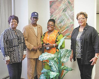 Promoters of the annual Freedom Fund Banquet planned by Youngstown Branch of the National Association for the Advancement of Colored People are, from left, Sandra Bean, banquet co-chairperson; Steven Michel, branch president; Gwendlyn Fish; publicity chairperson; and Juanita Byrd, Freedom Fund chairperson. Photo by: ROBERT K. YOSAY  | THE VINDICATOR