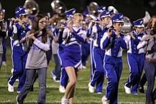 IMG 3496:ÊThe Hubbard High School marching band performs during halftime of Friday nights football game between Hubbard and Struthers at Hubbard High School.ÊDustin Livesay Ê| ÊThe Vindicator Ê9/21/12 ÊHubbard, Ohio