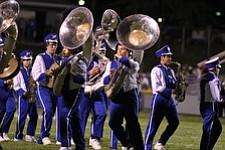 IMG 3503:ÊThe Hubbard High School marching band performs during halftime of Friday nights football game between Hubbard and Struthers at Hubbard High School.ÊDustin Livesay Ê| ÊThe Vindicator Ê9/21/12 ÊHubbard, Ohio