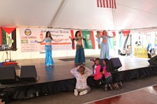 Entertainment at the first Arab-American Festival of Youngstown Saturday included traditional belly-dancing. The event took place on West Federal Street between Phelps and Hazel streets.