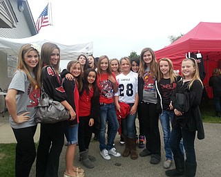 Canfield Village Middle School friends getting ready for the Canfield vs Poland football game and celebrating Alyssa Santoro's 13th Birthday!!