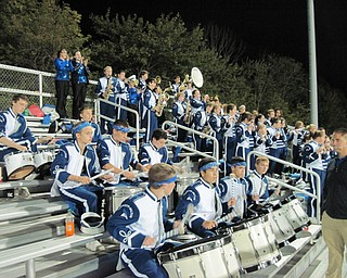 The Jackson-Milton Marching Band shows their spirit and pride for the Bluejays during the game against Rootstown.