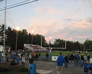 A beautiful night for the Jackson-Milton game against Mineral Ridge at the Bluejay stadium in North Jackson.