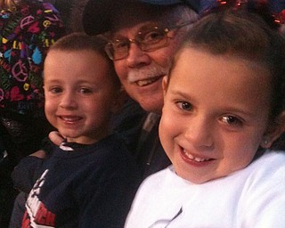 Grandpa with his grand kids at the Fitch Boardman game!