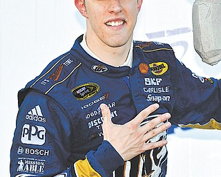 Brad Keselowski took the checkered flag in Sunday's race at Dover International Speedway in Dover, Del.