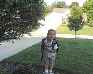 Jack Hurdley, 3, on his first day of preschool at St Paul's in New Middletown, had talked about this day for months and months. You can see the excitement on his face!