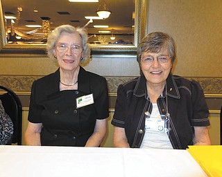Nancy Brant, left, and Karen Butt were guest speakers at a recent meeting of Trumbull Retired Teachers Association. Brant spoke about Famous Ohioans, and Butt, past president of Ohio Retired Teachers Associated, provided TRTA members with a legislative update on the pension bill. The next TRTA  meeting will be at noon Tuesday at Ciminero's Banquet Centre, 123 N. Main St., Niles. The speakers will be Tamla Cole and Becky Frasher of State Teachers Retirement System and Gary Divito and Jeannie Coffey of American Medical Billing Association. To register, send $11 to Mary Novotny, 5799 Sarah Ave. NW, Warren, OH 44483.