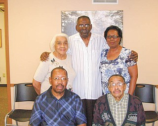 Members of Ebony Lifeline Support Group, a self-help organization for minorities, are promoting the 16th annual All Sports Banquet Oct. 19. From left seated are William Allen and Robert Thomas, a founder of the group with Luther Stubbs; and standing are Francis Prayor-Singleton, left, Jackie Martin and Pat Traylor.