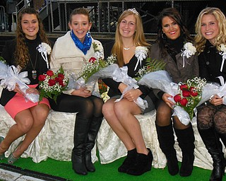 Senior Homecoming Court at Poland High School Quynn Latsko, Taylor Ashton, Brenna Gebhardt, Nicole Albright & Anna Barnhart