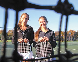 Cardinal Mooney's doubles team of Jamie DiDomenico, left, and Dominque Cicchi are headed to the state tennis meet.